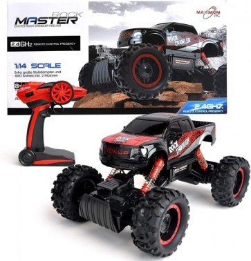 Maximum RC Ferngesteuertes Auto für Kinder - Rock Crawler / Monstertruck (rot)