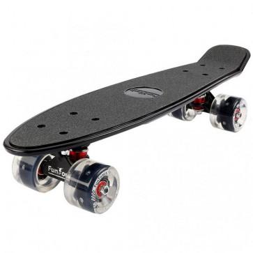 FunTomia® Mini-Board schwarz mit Big Wheel LED Rollen und ABEC11 Kugellager