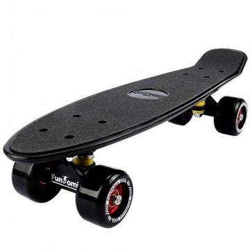 FunTomia® Mini-Board Schwarz mit Big Wheel Rollen und ABEC11 Kugellager (B-Ware)