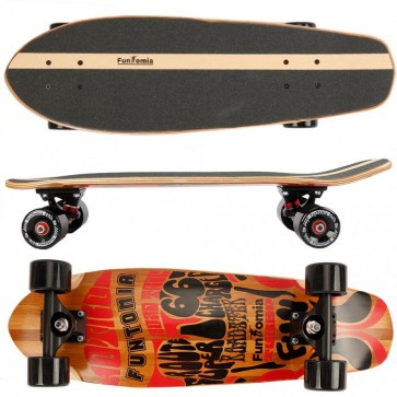 Cruiser Skateboard aus 5-lagigem kanadischem Ahornholz und 2 Lagen Bambusholz