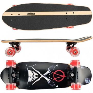 Cruiser Skateboard mit LED Rollen aus 7-lagigem kanadischem Ahornholz