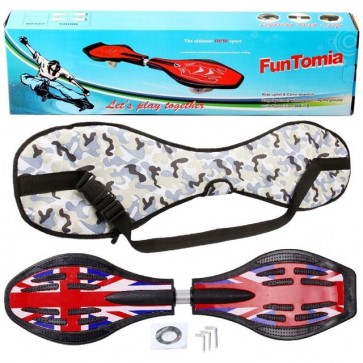 FunTomia® Waveboard mit LED-Rollen 2RS Mach1 Kugellager in Farbe  England