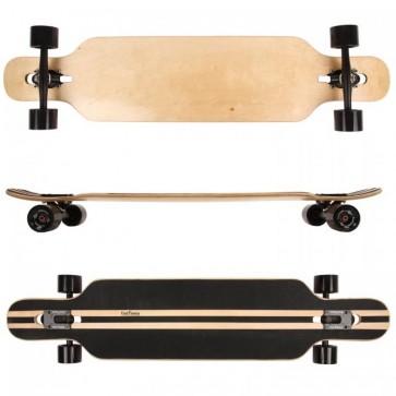 FunTomia® Camber Longboard 9 Lagen Ahornholz in Farbe Blanko + T-Tool