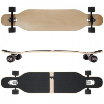 FunTomia Longboard Ahornholz - Farbe Blanko (Flex2)
