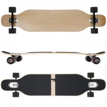 FunTomia Longboard Ahornholz - Farbe Blanko (Flex3)