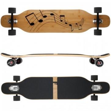 FunTomia Longboard Bambus/Ahorn - Farbe Musik (Flex2)