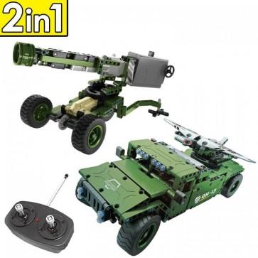 Qihui 8013 Militär Wagen / Geschütz - 506 Klemmbausteine