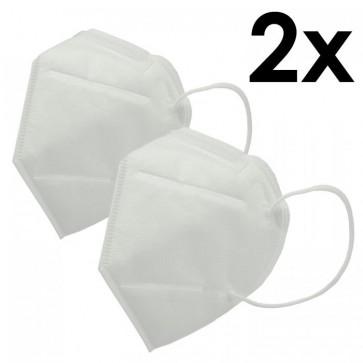 2 Stück KN95 (FFP2) Virenschutz Maske Atemschutzmaske Feinstaubmaske