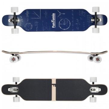 FunTomia Longboard Ahornholz mit Mach1 High Speed Kugellager T-Tool ohne LED-Rollen Farbe Mathe (Flex2)