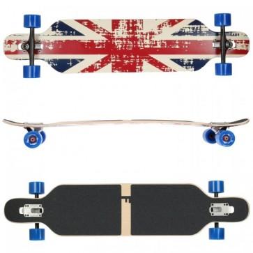 FunTomia Longboard Ahornholz mit Mach1 High Speed Kugellager T-Tool ohne LED-Rollen Farbe England (Flex3)
