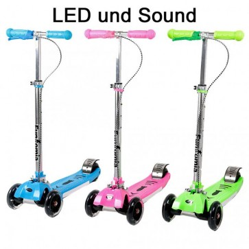 FunTomia-LED-Kinderroller in 3 Farbe mit Sound & LED