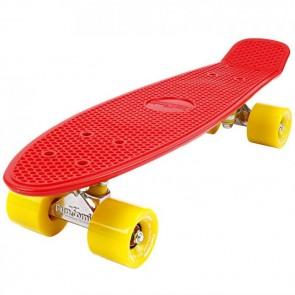 FunTomia® Mini-Board Skateboard und Tragetasche in Rot mit gelben Rollen