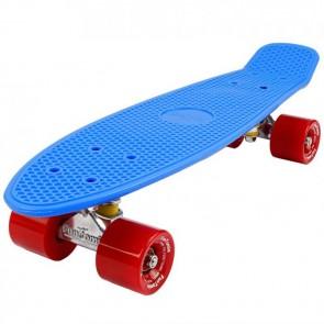 FunTomia® Mini-Board Skateboard und Tragetasche in Blau mit roten Rollen