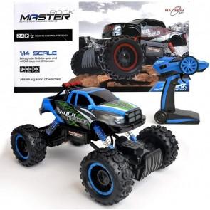 Maximum RC Ferngesteuertes Auto für Kinder - Rock Crawler / Monstertruck (Blau)