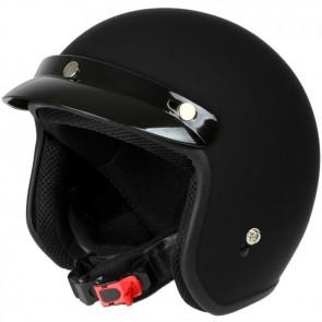 Mach1® Jethelm Motorradhelm schwarz-matt Roller Scooter Helm Größe XS - XXL
