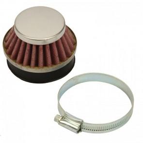 Tuning Rennluftfilter (58mm Einlass) für Mach1 Benzin-Scooter /Pocket Bike A322 58mm rot/silber