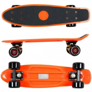 FunTomia® Mini-Board Orange mit Big Wheel Rollen und ABEC11 Kugellager