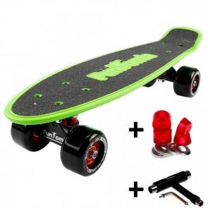 FunTomia® Mini-Board Grün mit Big Wheel Rollen und ABEC11 Kugellager inkl. 1x T-Tool+Lenkgummis