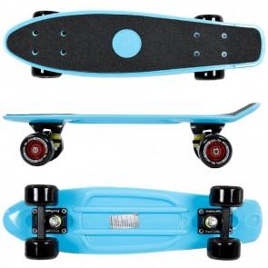 FunTomia® Mini-Board Blau mit Big Wheel Rollen und ABEC11 Kugellager