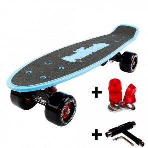 FunTomia® Mini-Board Blau mit Big Wheel Rollen und ABEC11 Kugellager inkl. 1x T-Tool+Lenkgummis