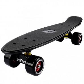 FunTomia® Mini-Board Schwarz mit Big Wheel Rollen und ABEC11 Kugellager
