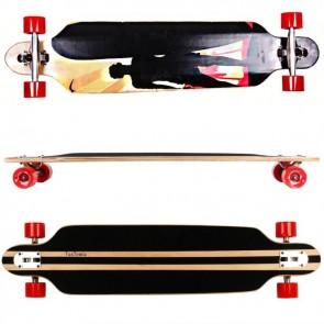 FunTomia® Freerider Longboard 9 Lagen Ahornholz in Farbe Surfer