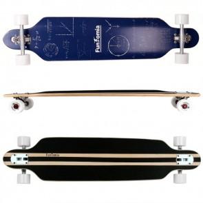 FunTomia® Freerider Longboard 9 Lagen Ahornholz mit der Farbe Mathe