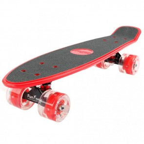 FunTomia® Mini-Board Rot mit Big Wheel LED Rollen und ABEC11 Kugellager