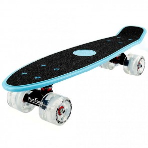 FunTomia® Mini-Board Blau mit Big Wheel LED Rollen und ABEC11 Kugellager