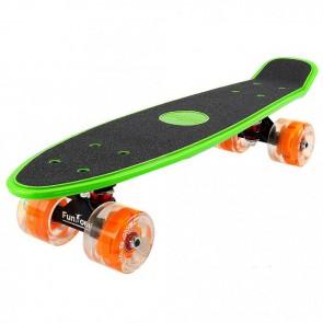 FunTomia® Mini-Board grün mit Big Wheel LED Rollen und ABEC11 Kugellager