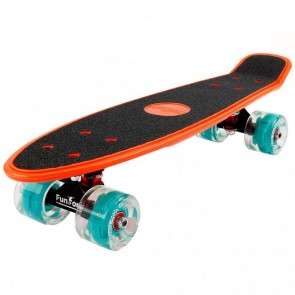 FunTomia® Mini-Board orange mit Big Wheel LED Rollen und ABEC11 Kugellager