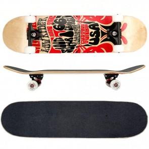 FunTomia® Skateboard mit 7 Schichten kanadischem Ahornholz & 100A Rollen