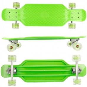 FunTomia® Longboard Kunststoff BigBoard mit LED Rollen ABEC11 Kugellager