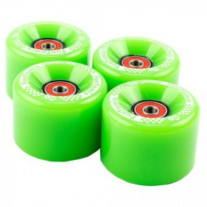 4x FunTomia® Big Wheels Rollen 65x45mm 80A für Mini-Board/Skateboard inkl. Mach1® Kugellager