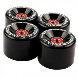 4x FunTomia® Big Wheels Rollen 65x45mm 80A für Mini-Board/Skateboard inkl. Mach1® Kugellager