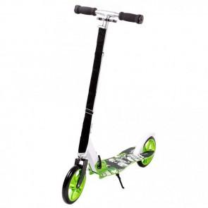FunTomia® Kickscooter Kinderroller Scooter Roller Cruiser Kick Jump Cityroller in grün/Totenkopf