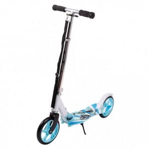 FunTomia® Kickscooter Kinderroller Scooter Roller Cruiser Kick Jump Cityroller in blau/Wolf