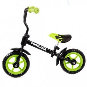 FunTomia Laufrad Lernrad Fahrrad in grün + höhenverstellbar ohne Stützräder
