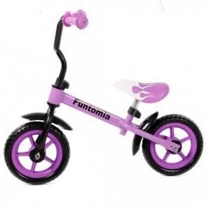 FunTomia Laufrad Lernrad Fahrrad in lila + höhenverstellbar ohne Stützräder