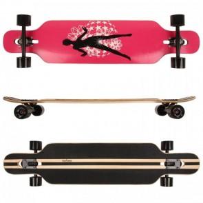 FunTomia® Freerider Longboard 9 Lagen Ahornholz in Farbe Dancing Queen + T-Tool