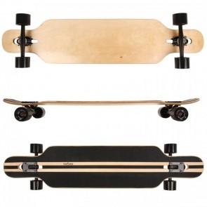 FunTomia® Freerider Longboard 9 Lagen Ahornholz in Farbe Blanko + T-Tool