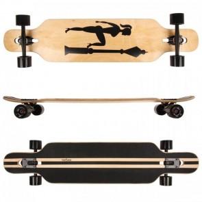 FunTomia® Freerider Longboard 9 Lagen Ahornholz in Farbe Veronika + T-Tool