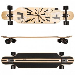 FunTomia® Freerider Longboard 9 Lagen Ahornholz in Farbe Muster + T-Tool