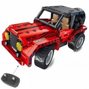 Qihui 8017  Roter Geländewagen Jeep - 333 Klemmbausteine