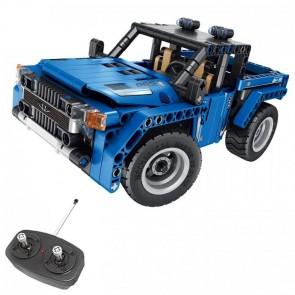 Qihui 8019  Blaues Rally Auto / Pick Up - 353 Klemmbausteine