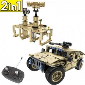Qihui 8014 Militär Humvee / Radar Station - 502 Klemmbausteine