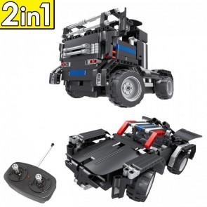Qihui 8008 Sportwaqen / LKW - 486 Klemmbausteine