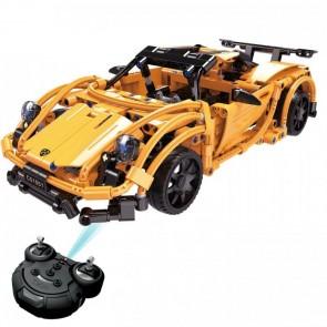 klemmbaustein Orangener Sportwagen