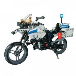 klemmbaustein Polizei Motorrad