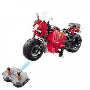 Klemmbausteine CaDA C51024W  Rotes Motorrad
